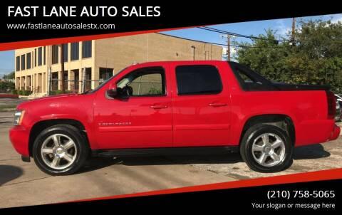 2009 Chevrolet Avalanche for sale at FAST LANE AUTO SALES in San Antonio TX