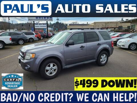 2008 Ford Escape for sale at Paul's Auto Sales in Eugene OR