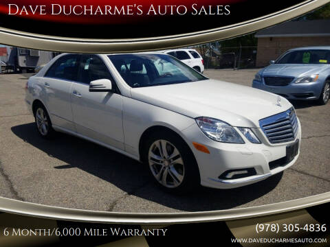 2010 Mercedes-Benz E-Class for sale at Dave Ducharme's Auto Sales in Lowell MA