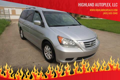 2010 Honda Odyssey for sale at Highland Autoplex, LLC in Dallas TX