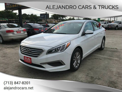 2017 Hyundai Sonata for sale at Alejandro Cars & Trucks in Houston TX