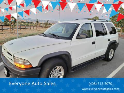 2003 Dodge Durango for sale at Everyone Auto Sales in Santa Clara CA