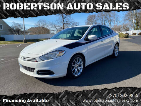 2013 Dodge Dart for sale at ROBERTSON AUTO SALES in Bowling Green KY