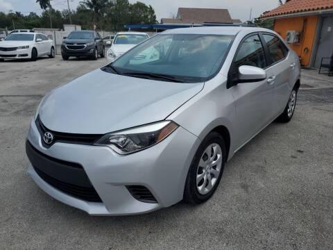 2016 Toyota Corolla for sale at VC Auto Sales in Miami FL