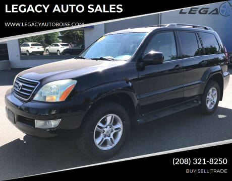 2003 Lexus GX 470 for sale at LEGACY AUTO SALES in Boise ID