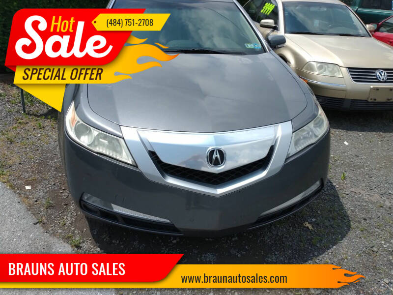 2009 Acura TL for sale at BRAUNS AUTO SALES in Pottstown PA