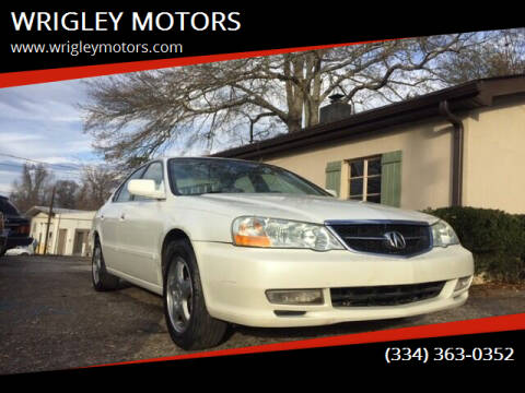 2003 Acura TL for sale at WRIGLEY MOTORS in Opelika AL