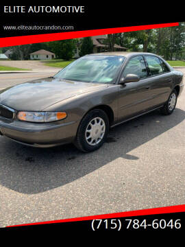2003 Buick Century for sale at ELITE AUTOMOTIVE in Crandon WI