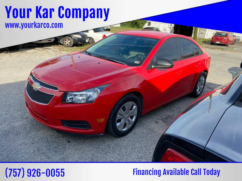 2014 Chevrolet Cruze for sale at Your Kar Company in Norfolk VA