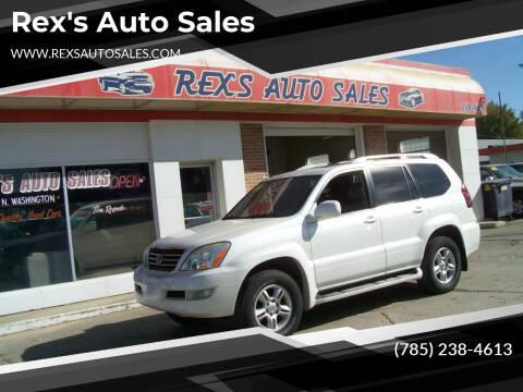 2006 Lexus GX 470 for sale at Rex's Auto Sales in Junction City KS
