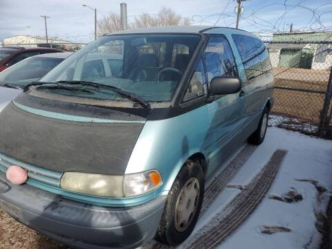 1995 Toyota Previa for sale at PYRAMID MOTORS - Fountain Lot in Fountain CO