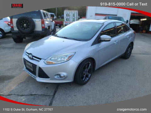 2014 Ford Focus for sale at CRAIGE MOTOR CO in Durham NC