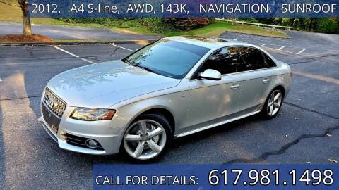 2012 Audi A4 for sale at Wheeler Dealer Inc. in Acton MA