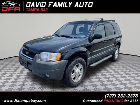 2003 Ford Escape for sale at David Family Auto in New Port Richey FL