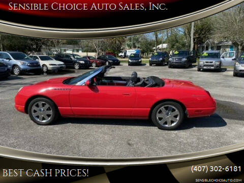 2002 Ford Thunderbird for sale at Sensible Choice Auto Sales, Inc. in Longwood FL