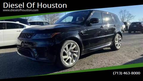 2018 Land Rover Range Rover Sport for sale at Diesel Of Houston in Houston TX