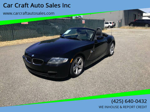 2006 BMW Z4 for sale at Car Craft Auto Sales Inc in Lynnwood WA