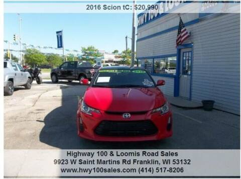 2016 Scion tC for sale at Highway 100 & Loomis Road Sales in Franklin WI