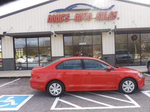 2012 Volkswagen Jetta for sale at DOUG'S AUTO SALES INC in Pleasant View TN