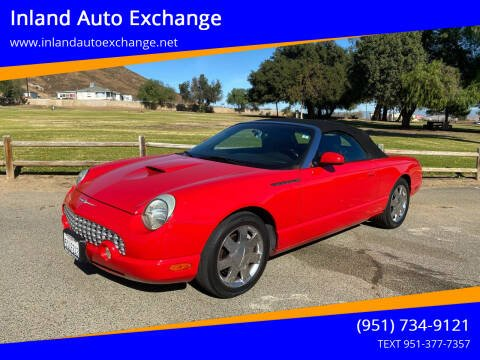 2002 Ford Thunderbird for sale at Inland Auto Exchange in Norco CA