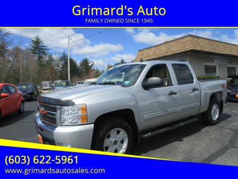 2011 Chevrolet Silverado 1500 for sale at Grimard's Auto in Hooksett, NH