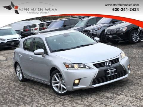 2014 Lexus CT 200h for sale at Star Motor Sales in Downers Grove IL