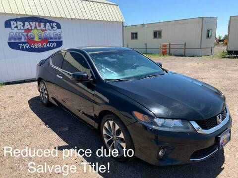 2014 Honda Accord for sale at Praylea's Auto Sales in Peyton CO