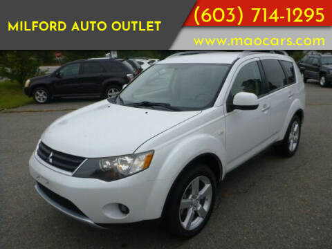 2007 Mitsubishi Outlander for sale at Milford Auto Outlet in Milford NH