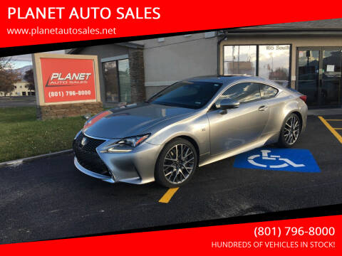 2018 Lexus RC 350 for sale at PLANET AUTO SALES in Lindon UT