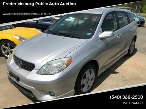 2006 Toyota Matrix for sale at FPAA in Fredericksburg VA