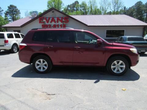 2008 Toyota Highlander for sale at Evans Motors Inc in Little Rock AR