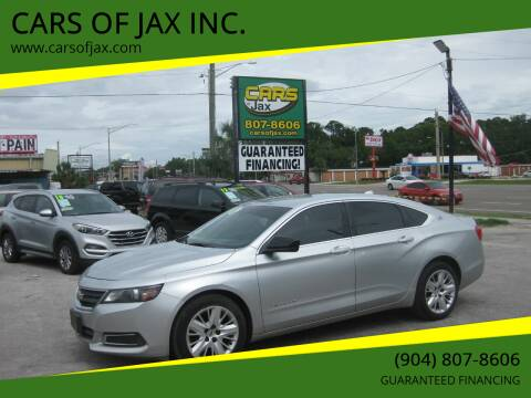 2014 Chevrolet Impala for sale at CARS OF JAX INC. in Jacksonville FL