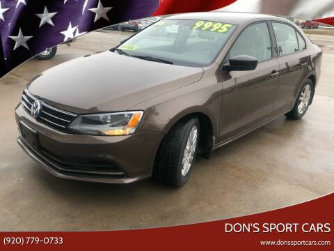 2015 Volkswagen Jetta for sale at Don's Sport Cars in Hortonville WI