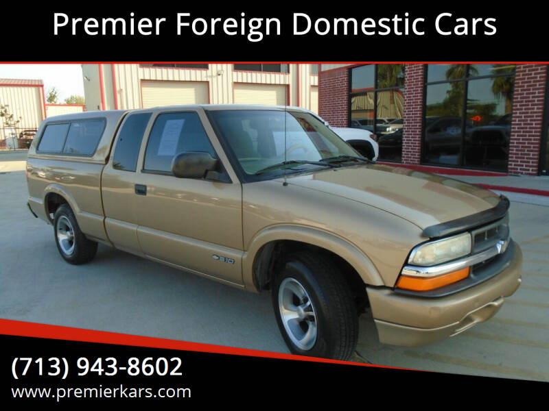 1999 Chevrolet S-10 for sale at Premier Foreign Domestic Cars in Houston TX