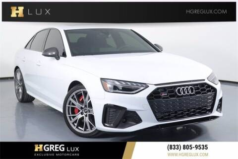 2021 Audi S4 for sale at HGREG LUX EXCLUSIVE MOTORCARS in Pompano Beach FL