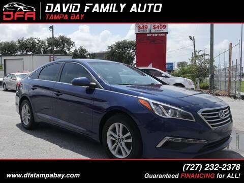 2015 Hyundai Sonata for sale at David Family Auto, Inc. in New Port Richey FL