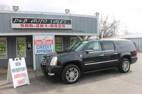 2012 Cadillac Escalade ESV for sale at D & B Auto Sales LLC in Washington Township MI