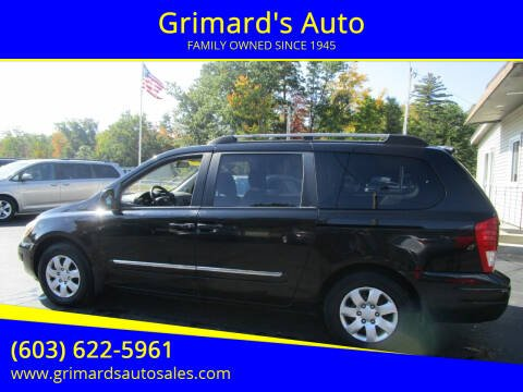 2008 Hyundai Entourage for sale at Grimard's Auto in Hooksett, NH