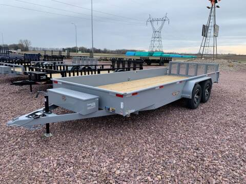 2021 H&H TSS 8.5x18 Solid Side #9736 for sale at Prairie Wind Trailers, LLC in Harrisburg SD