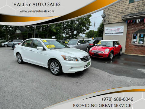 2012 Honda Accord for sale at VALLEY AUTO SALES in Methuen MA