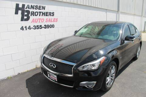 2015 Infiniti Q70 for sale at HANSEN BROTHERS AUTO SALES in Milwaukee WI