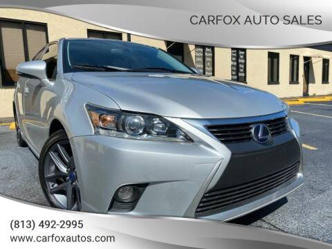 2014 Lexus CT 200h for sale at Carfox Auto Sales in Tampa FL