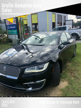2019 Lincoln MKZ for sale at Gralin Hampton Auto Sales in Summerville SC