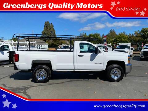 2015 Chevrolet Silverado 3500HD for sale at Greenbergs Quality Motors in Napa CA