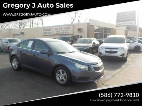 2014 Chevrolet Cruze for sale at Gregory J Auto Sales in Roseville MI
