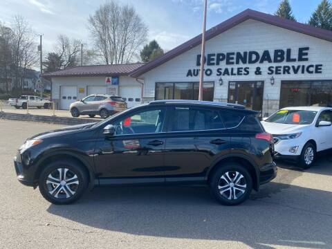 2017 Toyota RAV4 for sale at Dependable Auto Sales and Service in Binghamton NY