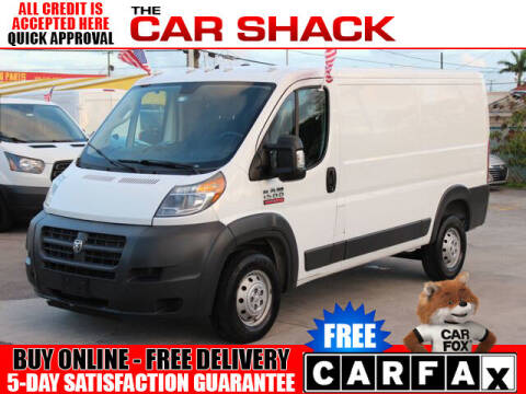 2017 RAM ProMaster Cargo for sale at The Car Shack in Hialeah FL