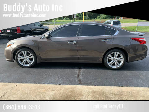 2017 Nissan Altima for sale at Buddy's Auto Inc in Pendleton, SC