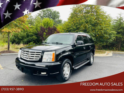 2003 Cadillac Escalade for sale at Freedom Auto Sales in Chantilly VA