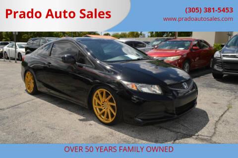 2013 Honda Civic for sale at Prado Auto Sales in Miami FL